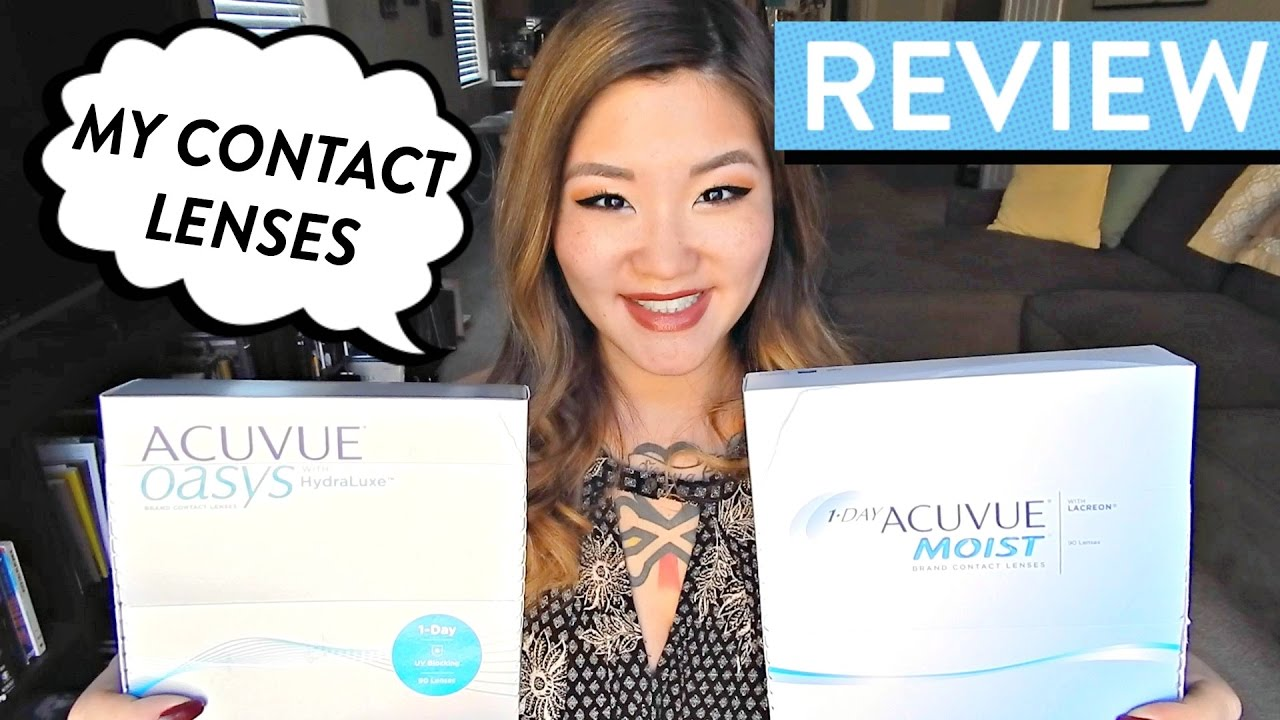 Review Acuvue Oasys 1 Day Hydraluxe Vs Moist Contact Softlens 2 Lenses Hellohannahcho