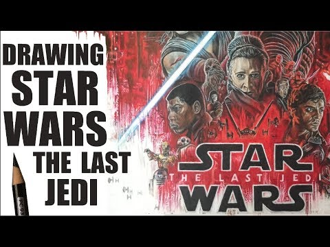 Drawing Star Wars: The Last Jedi