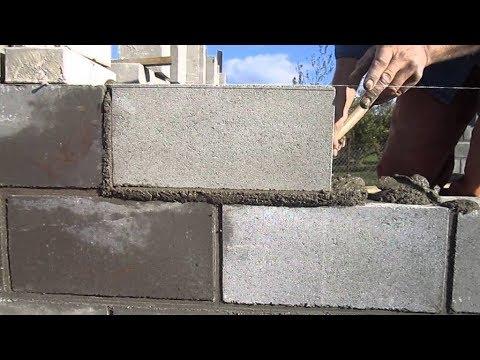 выкладываем первый ряд блоков как класть блоки