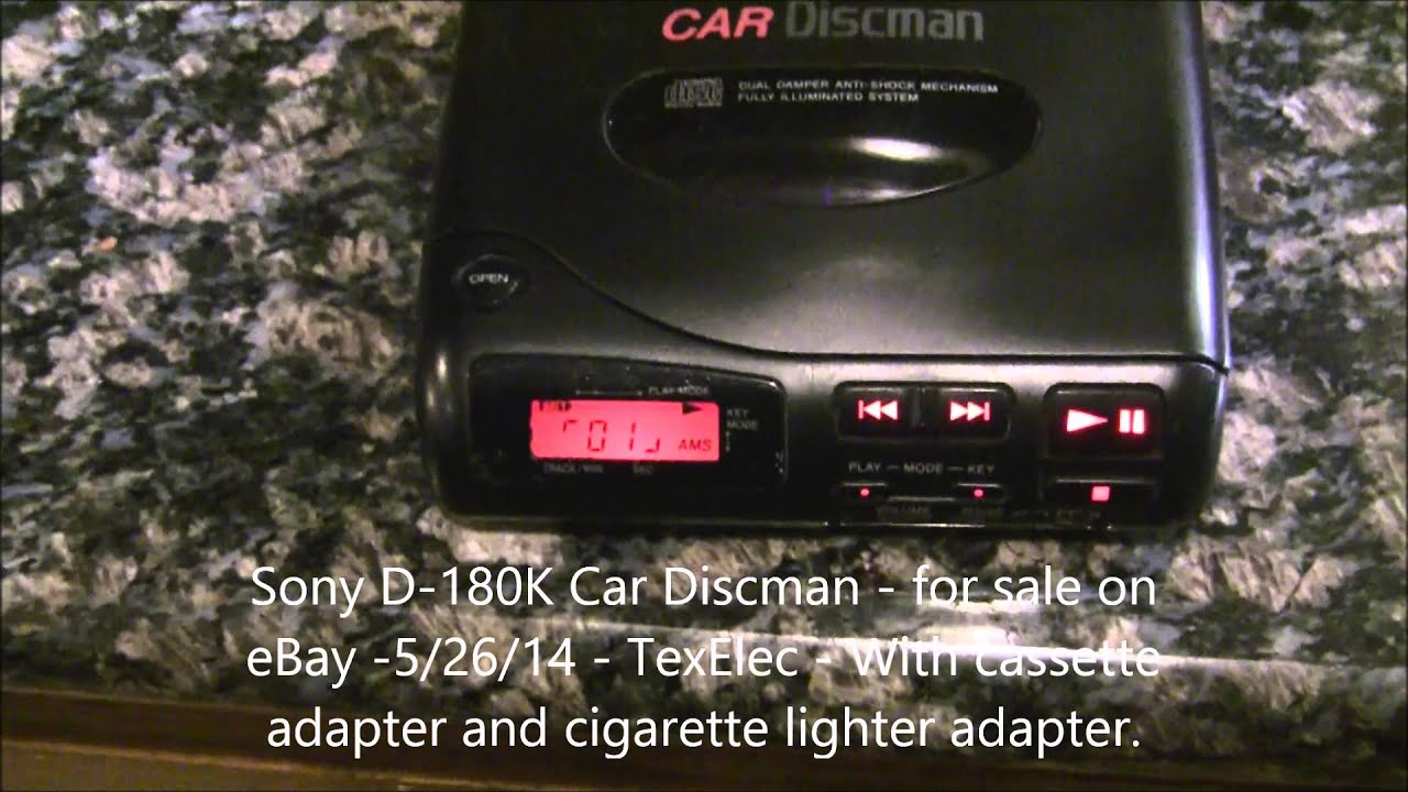 Sony D-180k Portable Car Discman Cd Player For Sale On Ebay - By Texelec