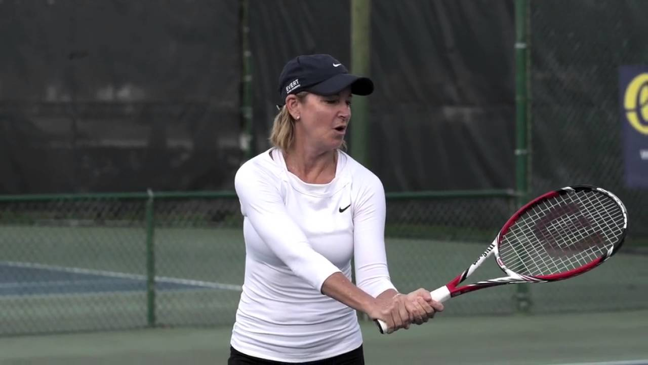 Backhand Volley by Chris Evert