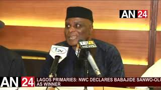 LAGOS PRIMARIES: NWC DECLARES BABAJIDE SANWO OLU AS WINNER