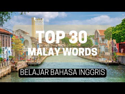 Malay: Travel Words: Bahasa Inggeris: 30 most common words in English-Bahasa Malaysia