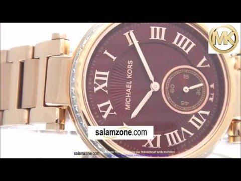 1c8204a9de18 Michael Kors MK6086 Women s Skylar Red Dial Rose Gold Steel Watch ...