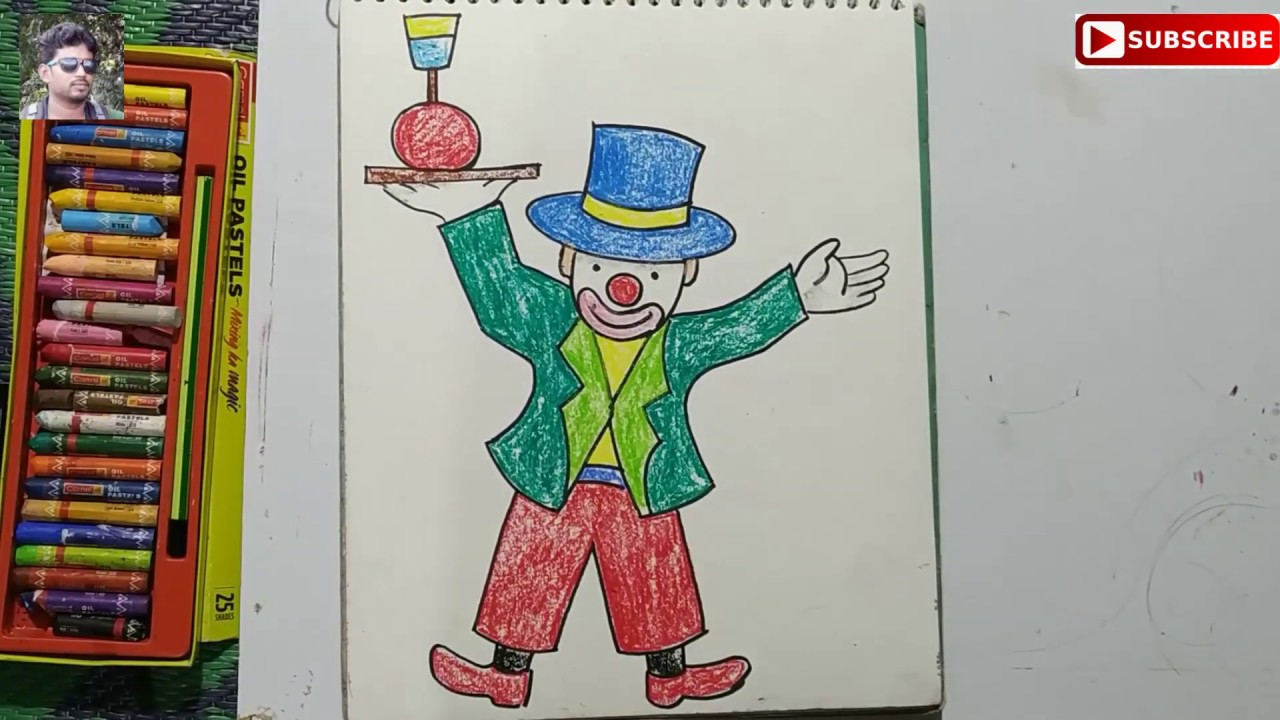 Very Easy Children S Drawing How To Draw Joker For Kids Youtube