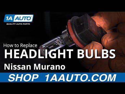 How to Replace Headlight Bulbs 09-14 Nissan Murano