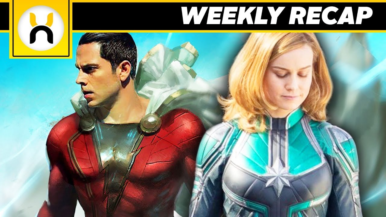 Captain Marvel First Look Outrage Superman In Shazam More Weekly Recap