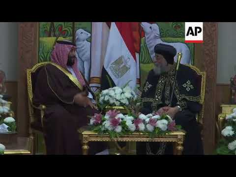 Saudi crown prince meets Egypt's Coptic Pope in Cairo