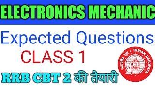 ELECTRONICS MECHANIC For Railway Important Mcqs questions