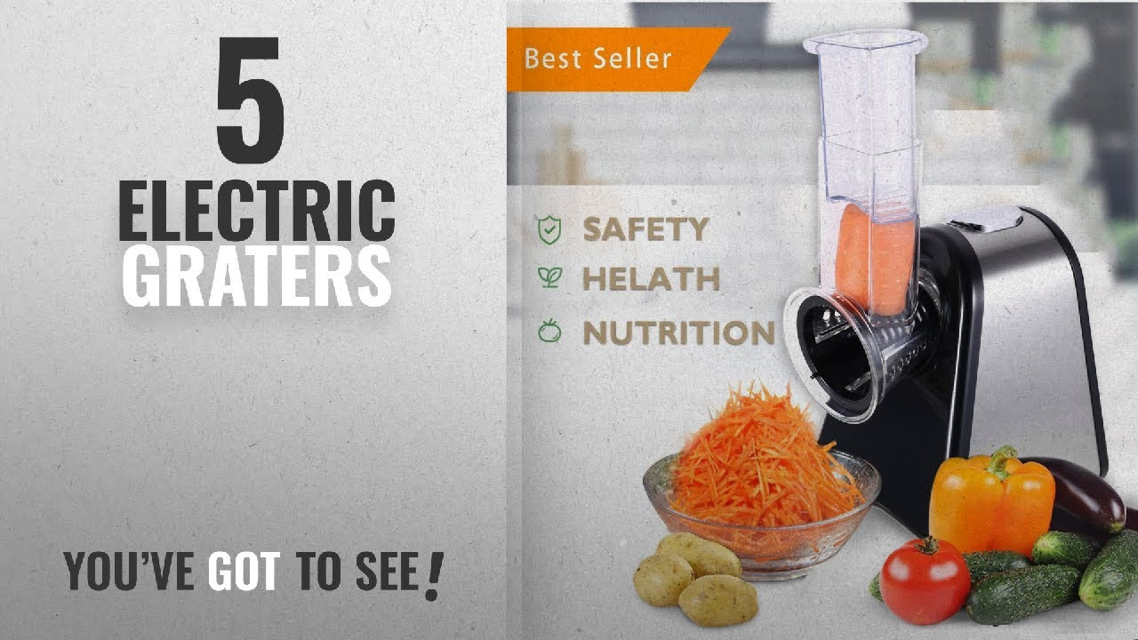 Top 10 Electric Graters [2018]: Meykey Electric Spiralizer Salad Maker Food  Grater Slicer/ Electric