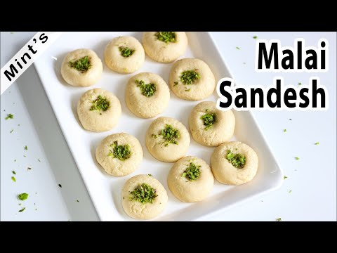Malai Sandes Recipe  Indian Dessert Recipe  Bengali Sweets