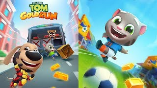 Talking Tom Gold Run Android Gameplay - Fireman Tom vs Zombie Ben