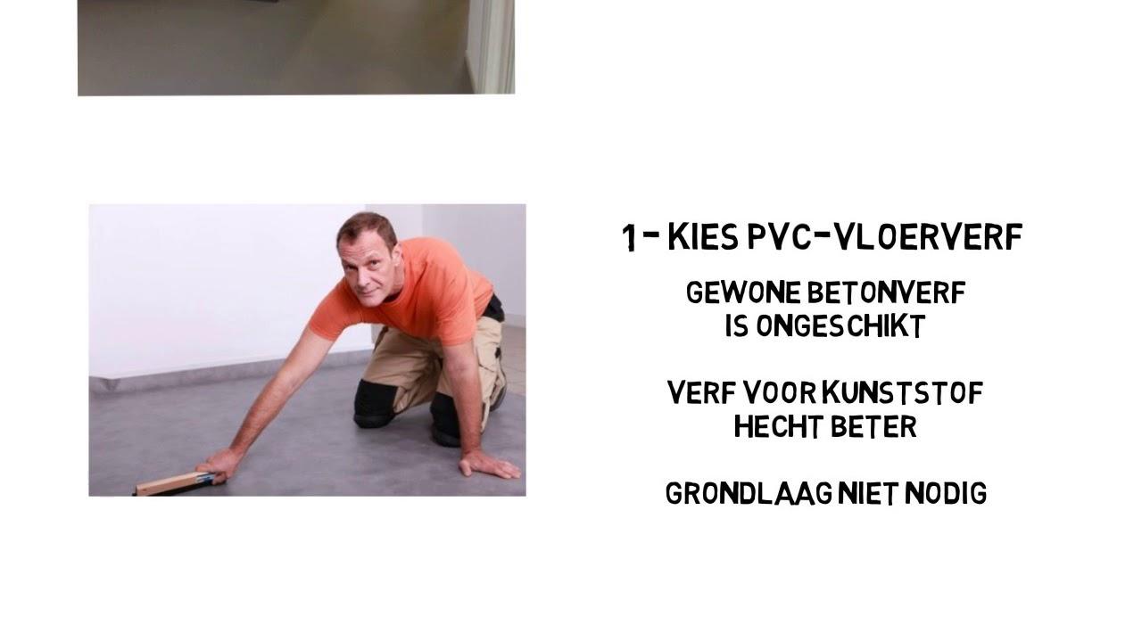 Pvc vloer verven vloerverf top tips youtube
