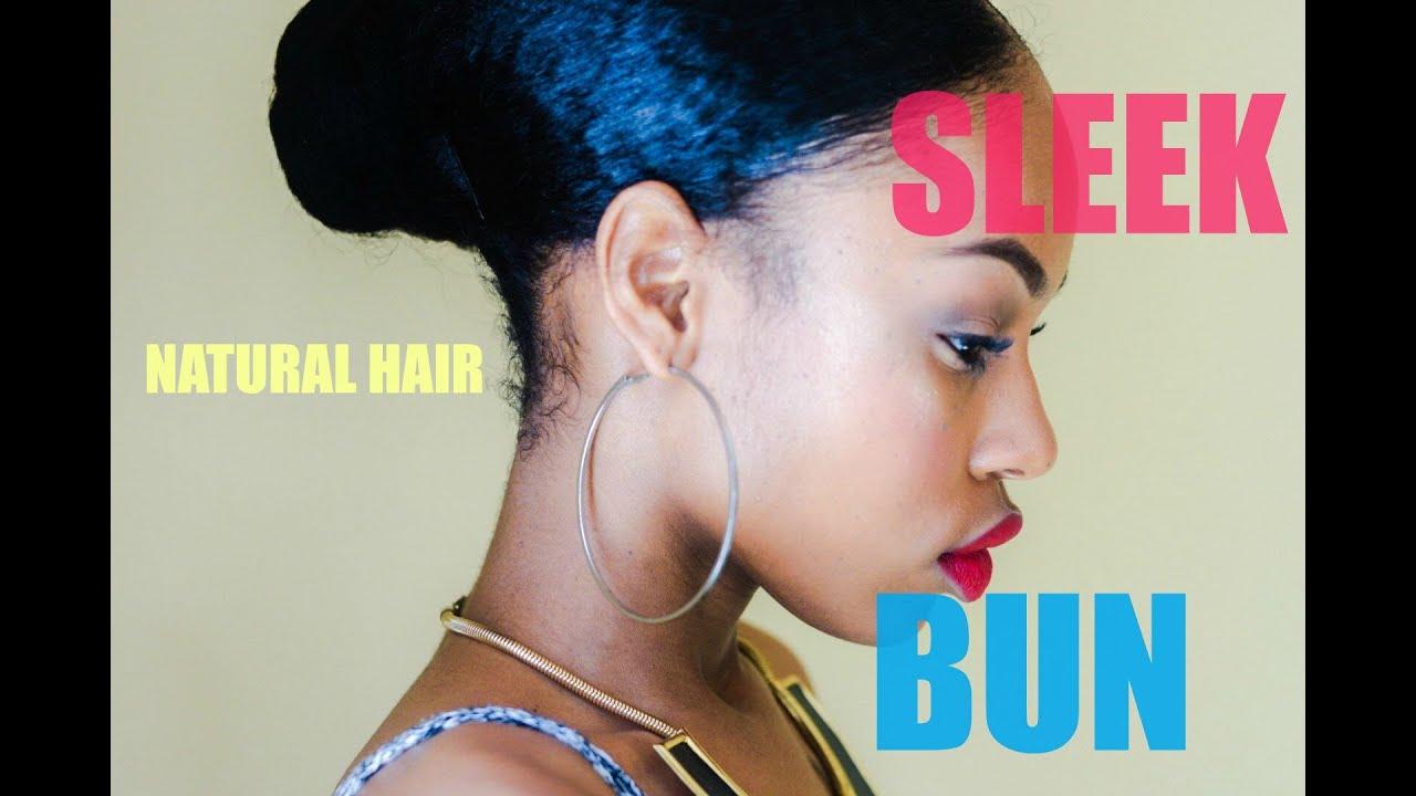 sleek natural hair bun breakage