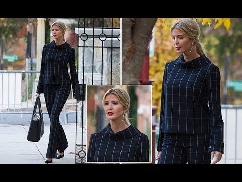 Ivanka Trump dons a checked top with matching flare pants