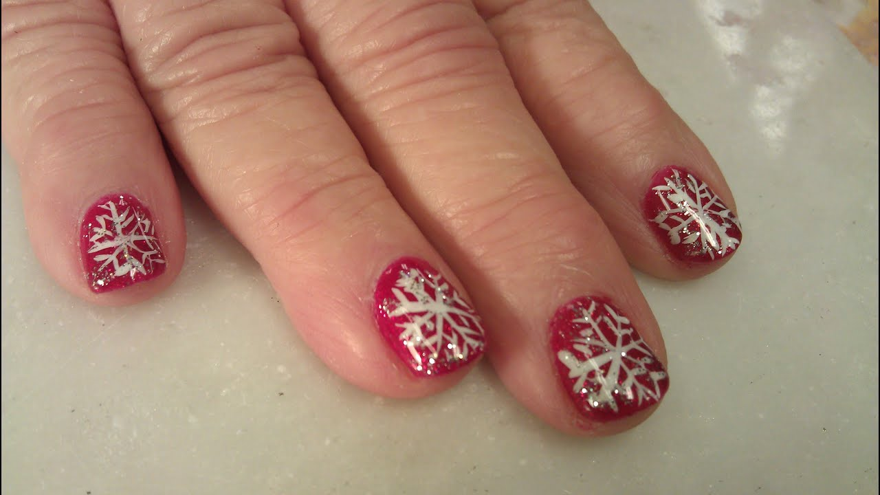 HOW TO GEL MAINCURE CHRISTMAS NAILS - YouTube