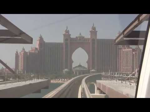 Dubai Monorail - a trip to Hotel Atlantis with the Monorail train