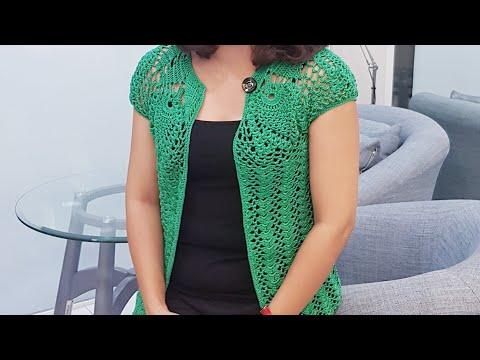 #moclen #aokhoaclen #vanvu HƯỚNG DẪN MÓC ÁO KHOÁC NHẸ( Phần 2) / How To Make Crochet Coat