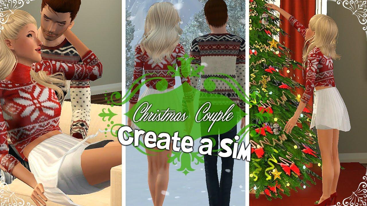 Sims 3: Create A Sim - Christmas Couple (Hollie & Nicholas ...