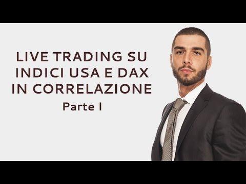 Live trading su indici USA e Dax in correlazione