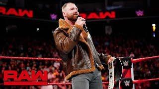 Dean Ambrose tries to provoke Seth Rollins: Raw, Dec. 17, 2018