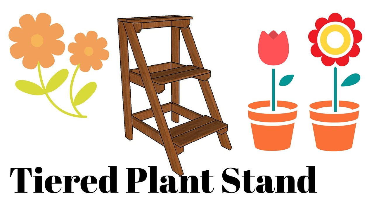 Tiered plant stand plans youtube
