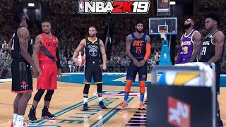 NBA 2K19 - EPIC 3 POINT CONTEST! - LeBron, Curry, Harden, Lillard, PG13, Hield!