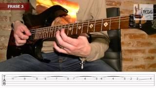 Como Tocar One en Guitarra Eléctrica - Metallica SOLO 1 / Tutorial en Español con Tabs 1/2 TCDG