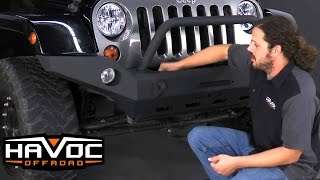 How to Install Havoc Clawhammer Front Bumper on a Jeep JK at HavocOffroad.com