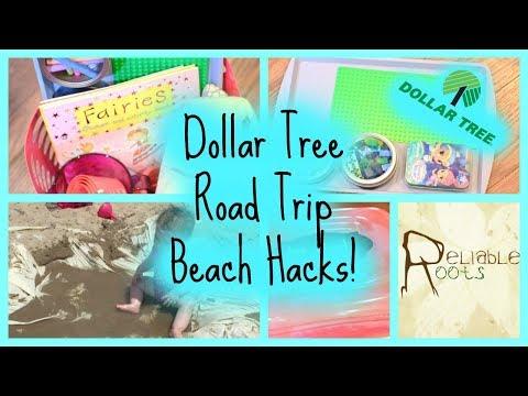 Dollar Tree Road Trip Beach Hacks!