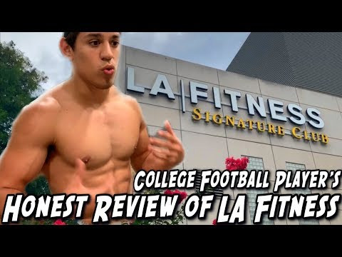 First Time At LA Fitness! College Football Player's Honest Review Of LA Fitness