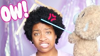 How To Detangle Your KINKY Type 4 Natural Hair!