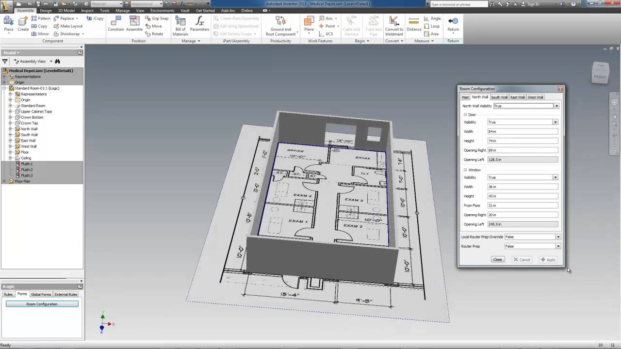 Room Configurator using Inventor iLogic YouTube