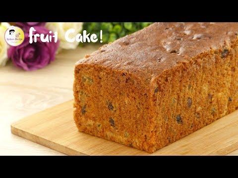 ট্রাডিশনাল ফ্রুট কেক | Traditional Fruit Cake without alcohol | Plum cake/Tutti Frutti Cake Recipe