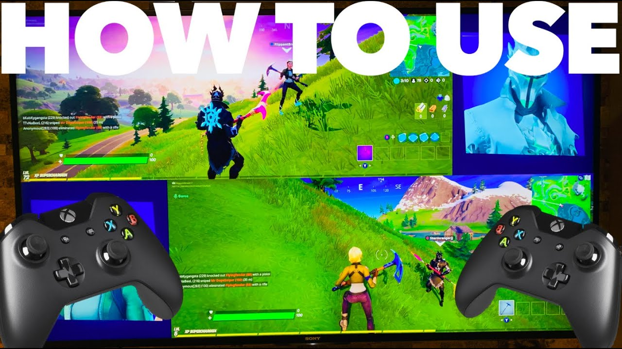 How to Do Split Screen on Fortnite PS4 and Xbox | Fortnite ...