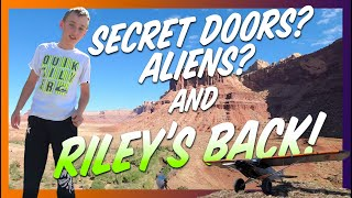 We found ancient petroglyphs on an airplane camping trip in Utah!