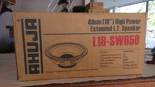 AHUJA L18-SW650 PROFESSIONAL PA SPEAKERS UNBOXING & REVIEW