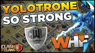 YoloTrone is So Strongl!! My Favorite Army In The Game!   Clash of Clans