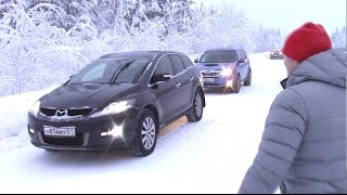 Зимний старт Forester vs Mazda CX-7