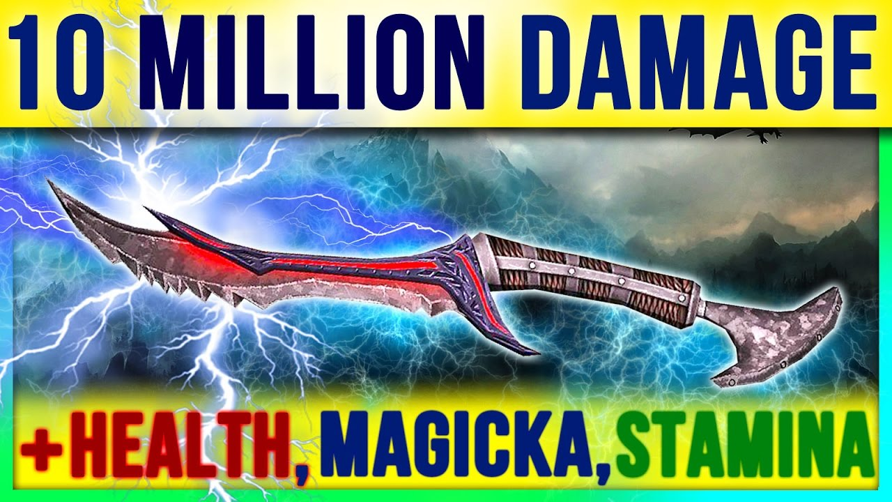 Skyrim Best Weapon & Armor - 10 MILLION DAMAGE in Special Edition (Fast  Skill Level Guide, No Mods)