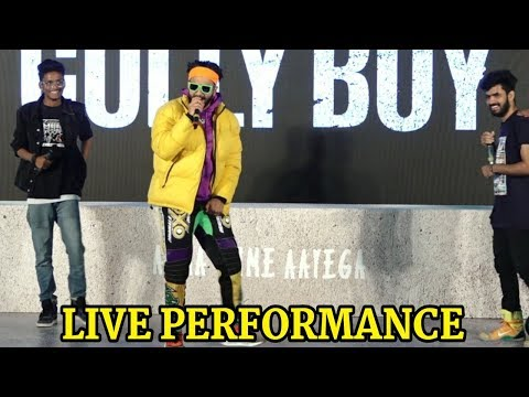 Ranveer Singh Live Performance on Asli Hip Hop | Gully Boy Trailer Launch