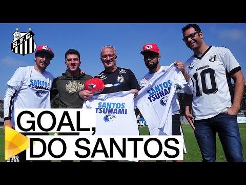 Cairo Santos, da NFL, visita o CT Rei Pelé