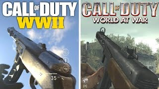 Call of Duty WWII Gun Sounds vs World at War!