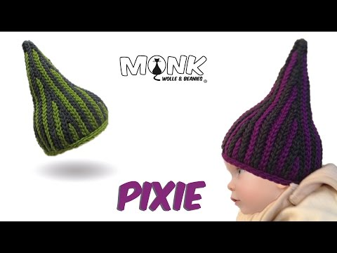 Download Crochet Babyhat Pixie Slip Stitch Crochet Pixie Babyhat