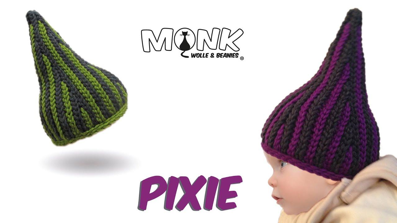 Mütze bosnisch häkeln - Pixie Babymütze - Kettmaschen häkeln - YouTube