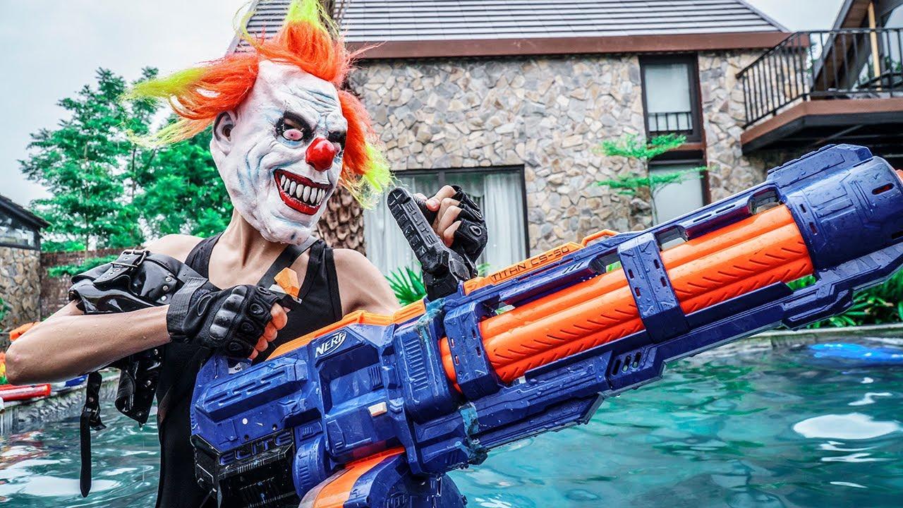 MASK Nerf War : Nerf Shooter Alpha Warriors Nerf Guns Fight Clever Criminals Evil Mask