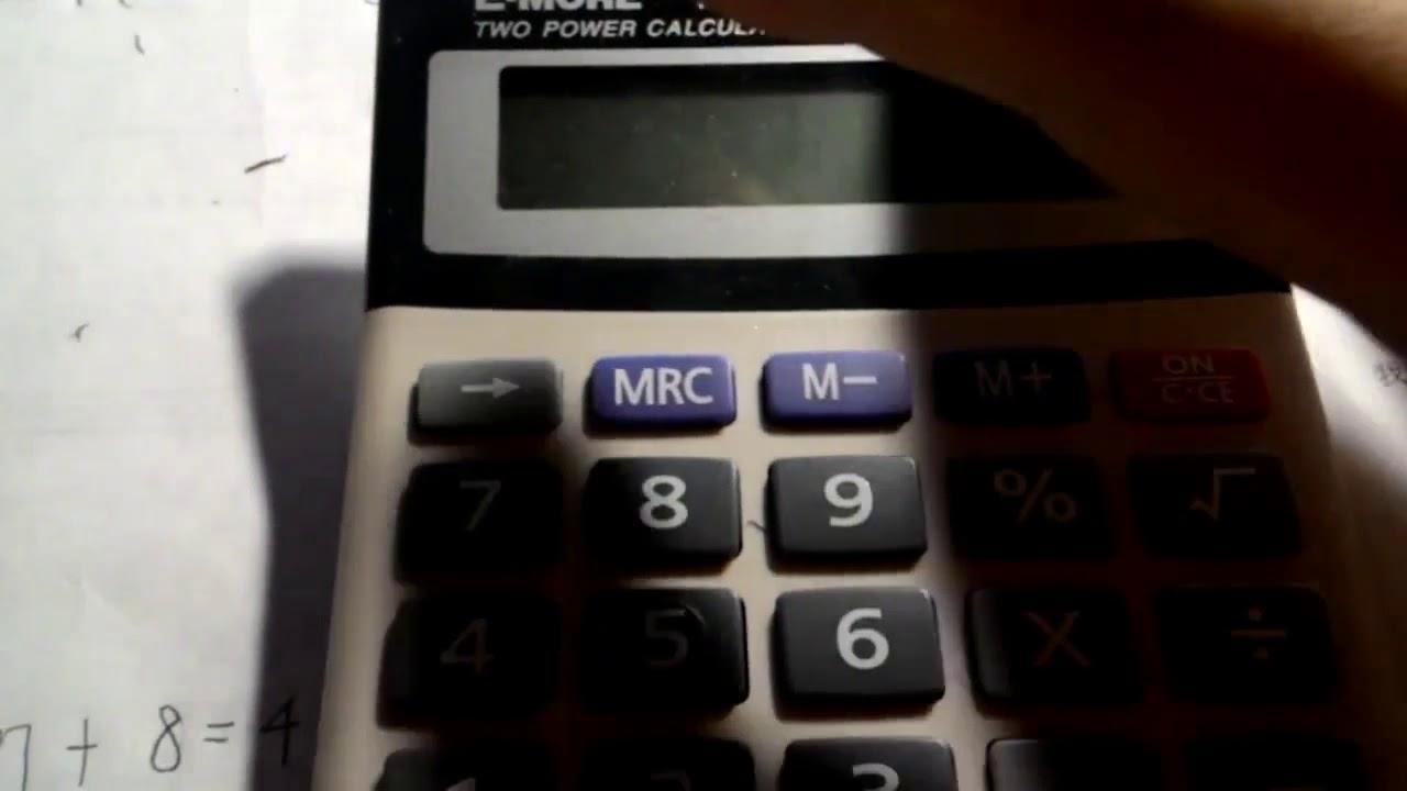 國考計算機卡西歐CASIO fx-82 solar或 fx-82 SX 教學示範6─加總M+ M MR功能 - YouTube