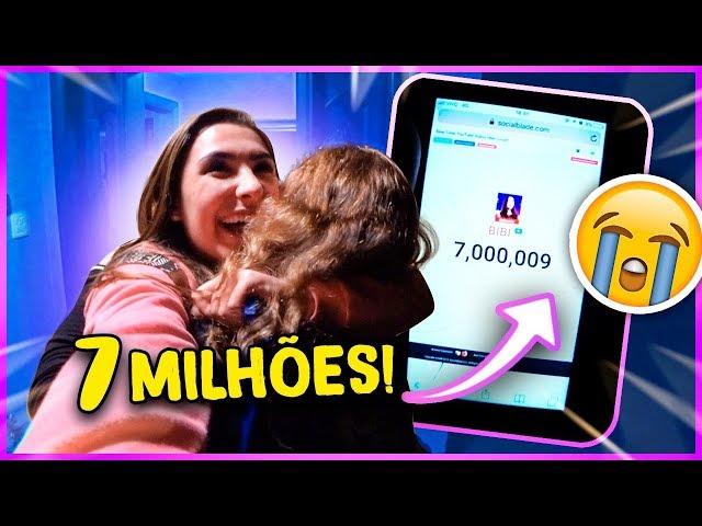 MINHA REAÇÃO AO CHEGAR EM 7 MILHÕES!