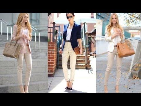 Outfits Idea Con Pantalones De Color Beige Moda Pantalones 2018 2019 Youtube