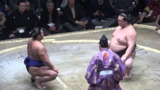 20160114大相撲初場所5日目 稀勢の里 vs 松鳳山.